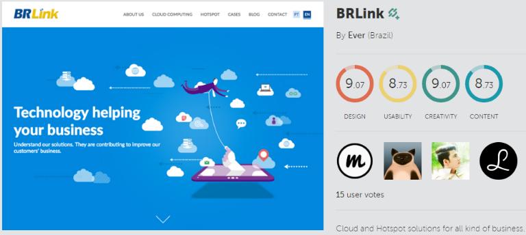 Novo Site BRLink indicado com um dos melhores no Awwwards